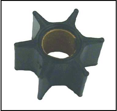 Cooling system impeller for 1960-61 Merc 800 and 1961-66 full-gearshift 6-cylinder Mercury outboard motors