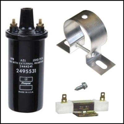 Ignition Coil Ballast Resistor And Coil Mounting Bracket
