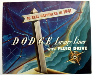 Original Prestige Sales Brochure for 1941 Dodge
