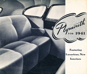 Original Sales Brochure for 1941 Plymouth